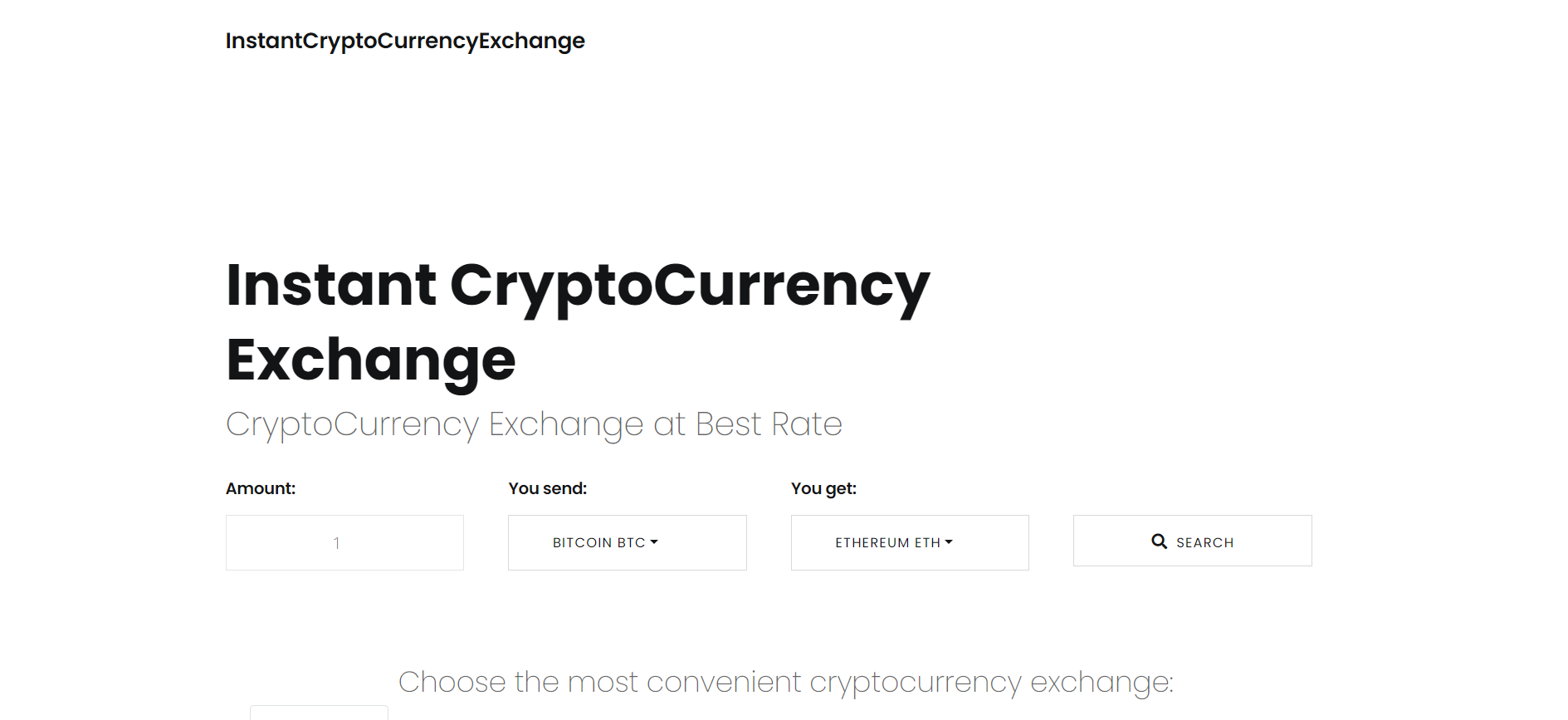 Exchange Cryptocurrency at Best Rate